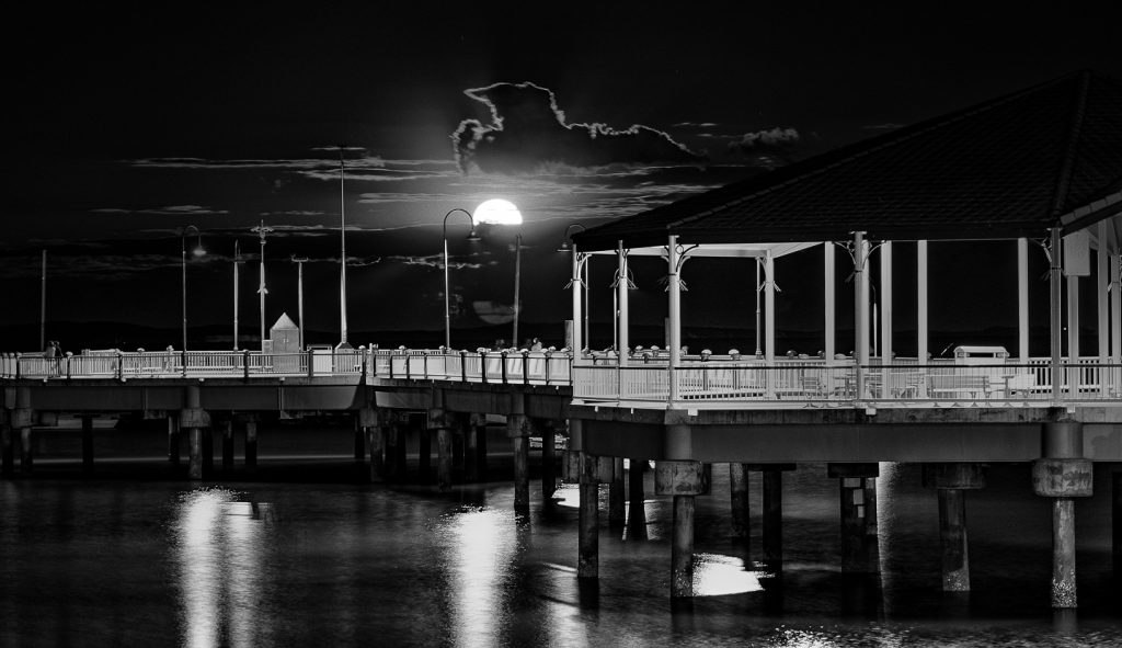 Moon Rise Over Redcliffe Jetty